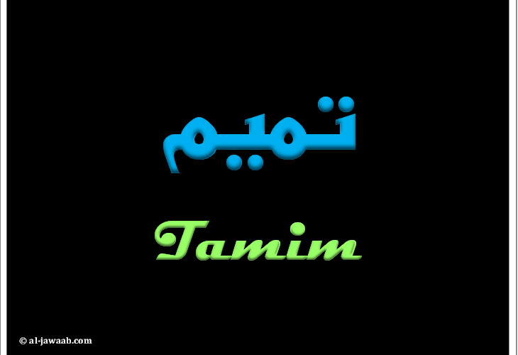 معنى اسم تميم